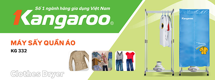 may sấy quần áo Kangaroo kg332