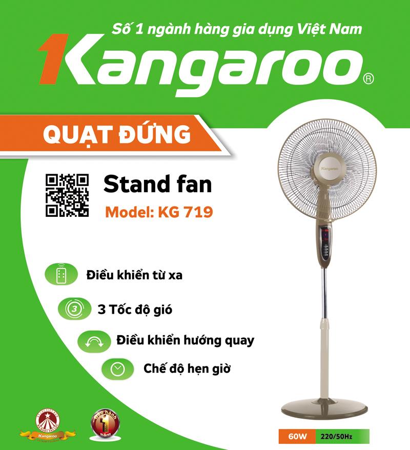 Quạt cây Kangaroo Kg719, quạt đa năng Kangaroo