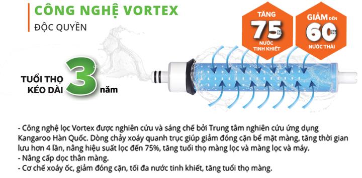 Công nghệ lọc Vortex Hàn Quốc hoàn toàn mới