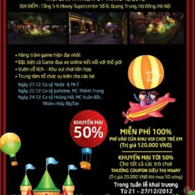 Noen năm nay đi chơi ở đâu hay nhất vui nhất-Khai trương trung tâm game lớn ở Hà Nội