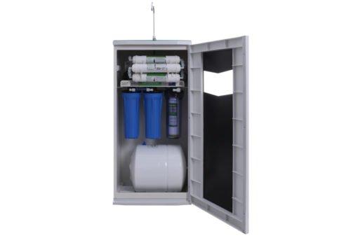 Phần máy lọc nước nằm bên trong tủ VTU Kangaroo
