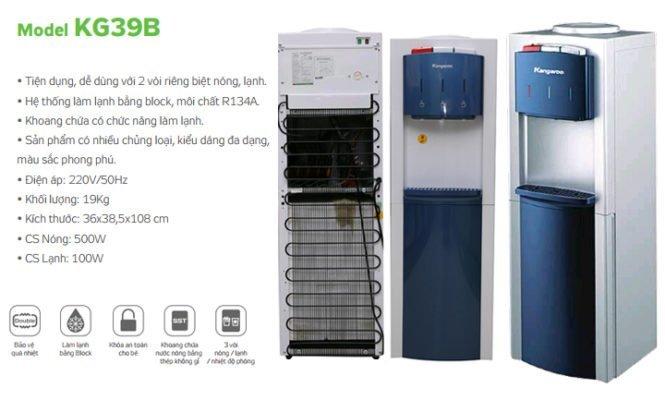 Thông tin cây nước nóng lạnh Kangaroo KG39B