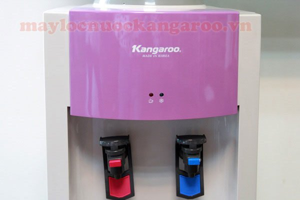 Màu sắc sặc sỡ, cùng đèn báo tình trạng hoạt động của cây nước KG44H