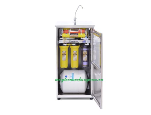 Máy lọc nước Kangaroo KG107 tủ inox mở