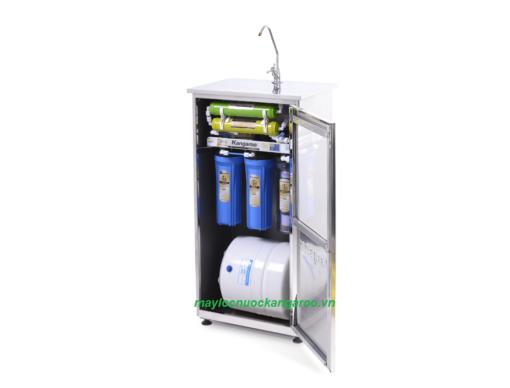 Máy lọc nước Kangaroo KG108 tủ Inox mở nghiêng