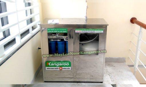Hình ảnh thực tế máy lọc nước Kangaroo công suất lớn với tủ Inox