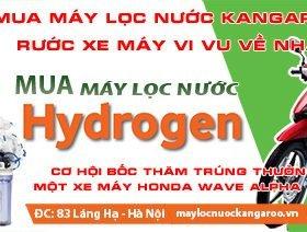 Mua máy lọc nước Kangaroo Hydrogen - Rước xe máy vi vu về nhà