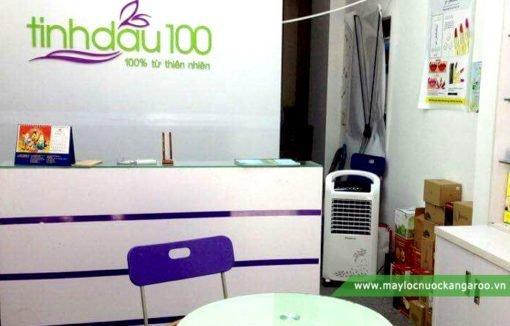Hình ảnh thực tế máy làm mát không khí Kangaroo khi đặt trong văn phòng nhỏ