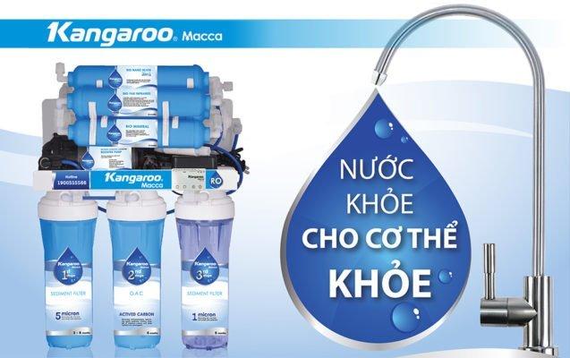 Kangaroo Macca – Dòng máy lọc nước mới nhất được ra mắt