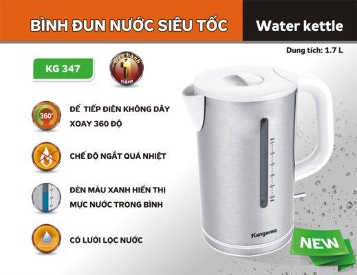 Giới thiệu Ấm đun nước siêu tốc Kangaroo KG347
