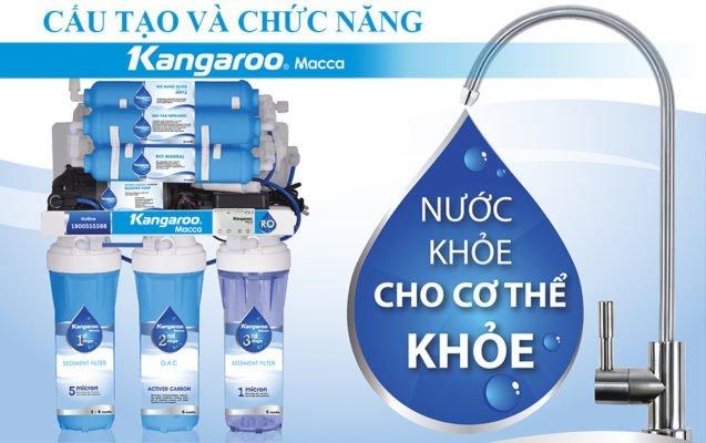 Cấu tạo và chức năng máy lọc nước Kangaroo Macca