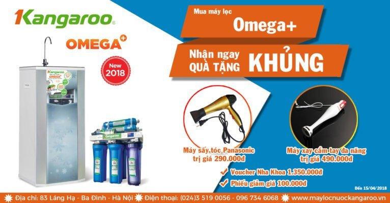 Tặng 04 phần quà khi mua máy lọc nước Kangaroo Omega+