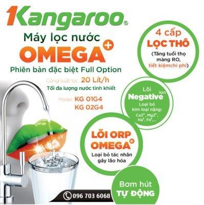 Thông tin về máy lọc nước Kangaroo Omega+