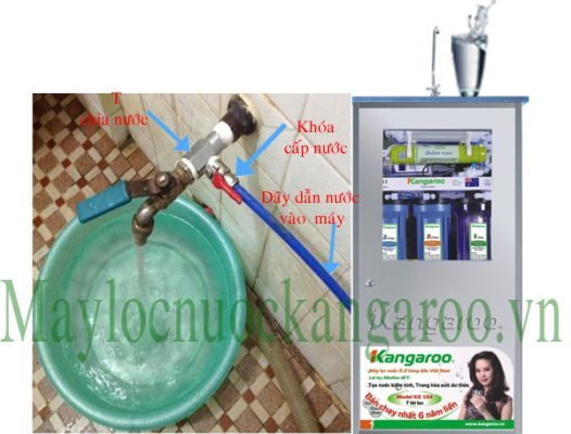 Lắp đặt máy lọc nước Kangaroo với những gia đình không thiết kế đường nước chờ