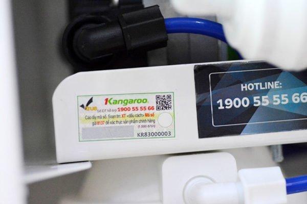 Tem xác thực được in rõ ràng. Cào và thực hiện theo đúng cú pháp trên tem để xác thực sản phẩm chính hãng Kangaroo