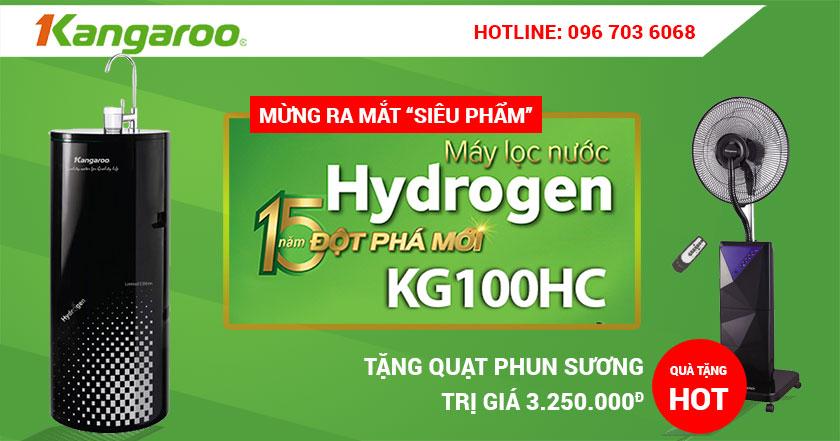 Mua máy lọc nước Hydrogen tặng quạt phun sương