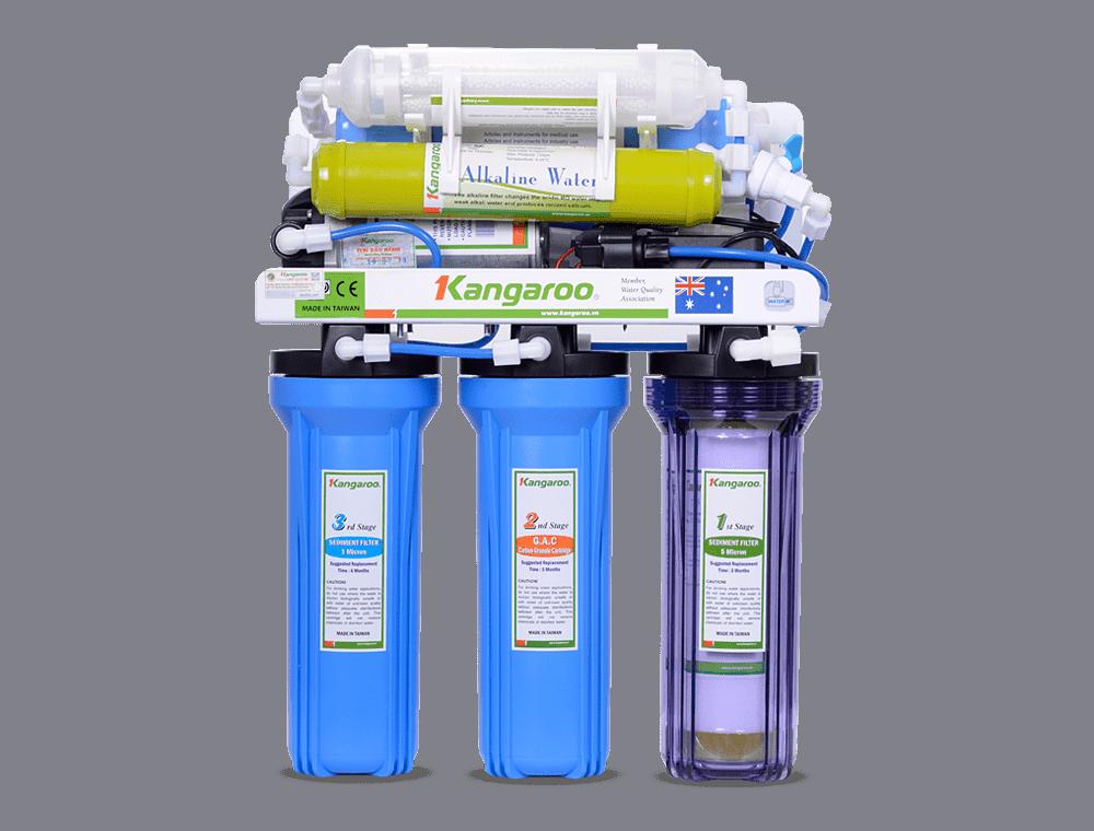 Máy lọc nước Kangaroo KG104A - 7 lõi lọc - Hệ thống Kangaroo Toàn quốc