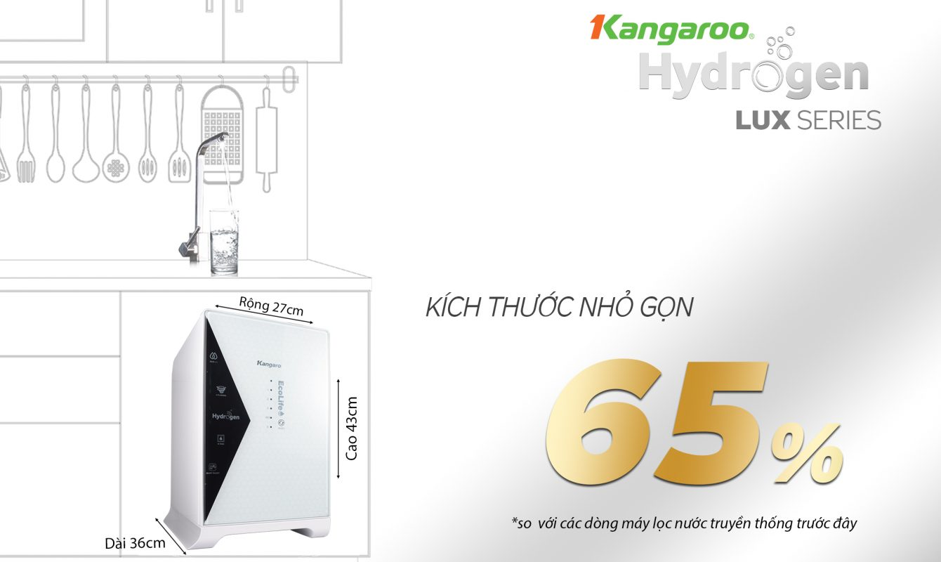 May Loc Nuoc Kangaroo Kg100hu Thiet Ke Nho Gon 1