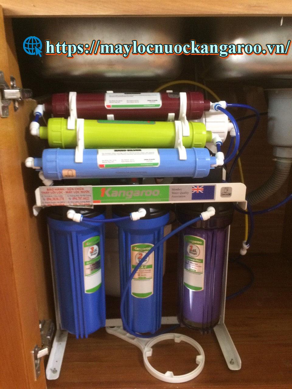 Hình ảnh máy lọc nước kangaroo Kg104 tại Khu đô thị Đặng Xá - Gia Lâm