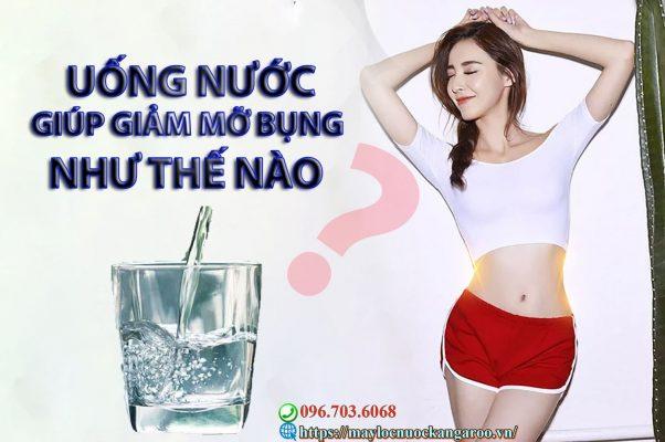 Uong Nuoc Giup Giam Mo Bung Nhu The Nao Min