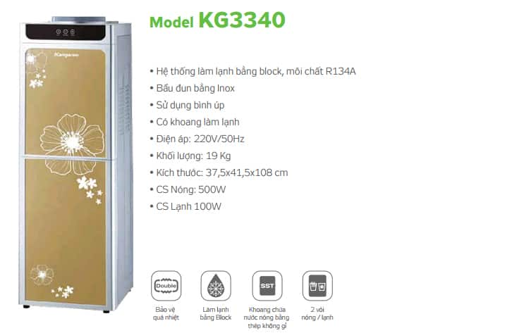 Cây nước nóng lạnh Kangaroo KG3340